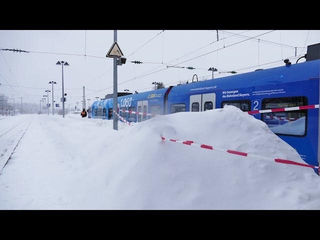 Update - 12.1.19 - Katastrophenfall und Schneechaos in Südbayern...