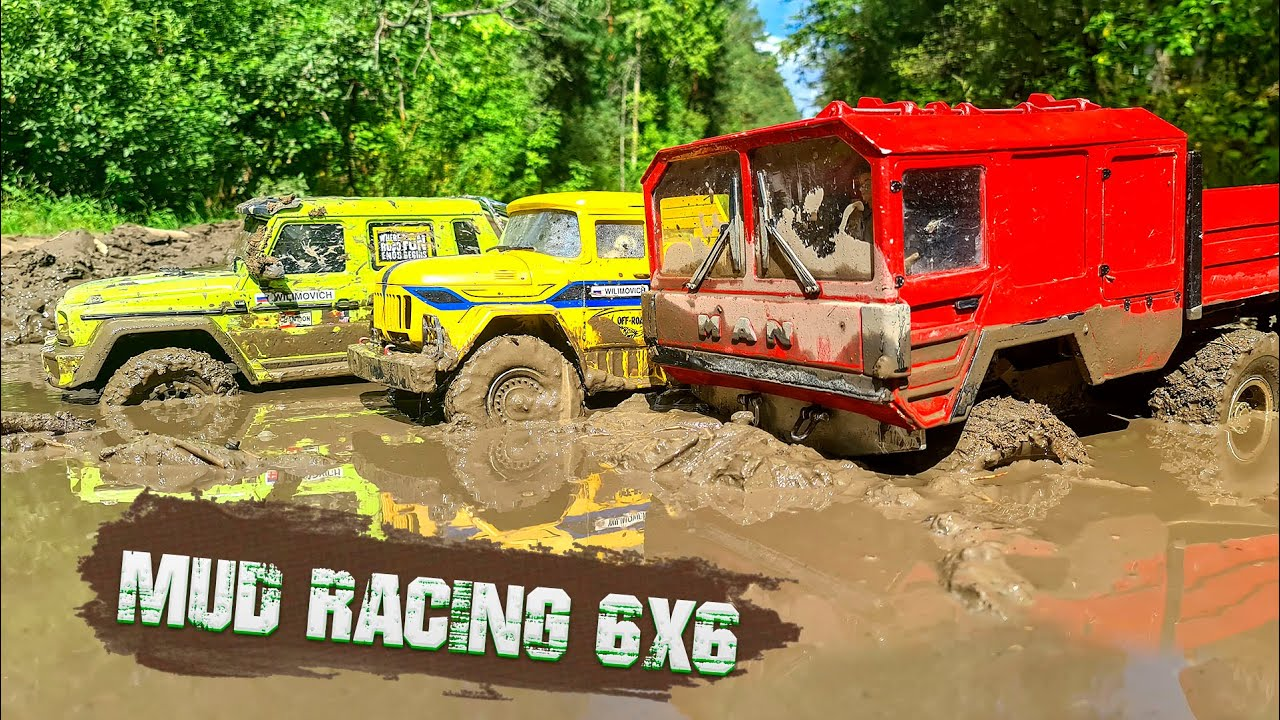 TRUCKS 6x6 MUD, ACTION, DRIVE – MERCEDES G63 vs MAN KAT vs ZIL 131