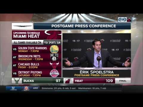 Erik Spoelstra - Miami Heat vs. Milwaukee Bucks postgame 1/21/17