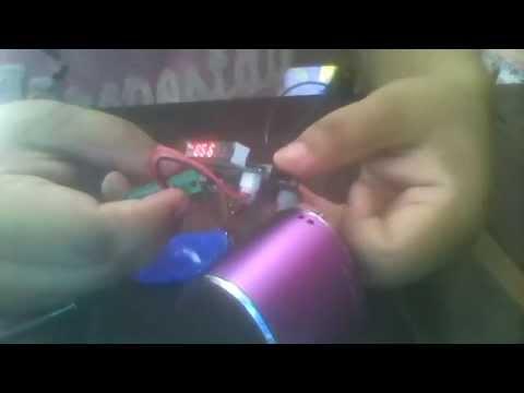 Reparar centro de carga de mini bocina recargable..