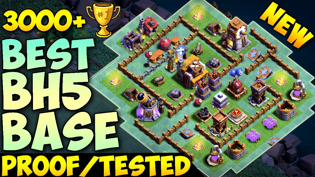 New Best Builder Hall Base 5 W Proof Bh5 Coc Builder