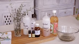 How to Make Natural Herbal Shampoo and Conditioner