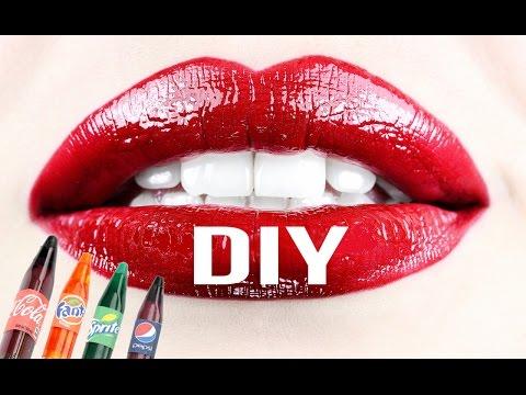DIY Crafts: Easy DIY Miniature Soda Bottle Lip Gloss - 4 Mini Lip Gloss DIYs - Cool DIY Project