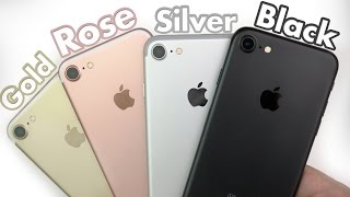 iPhone 7: Black vs Gold vs Silver vs Rose Gold!