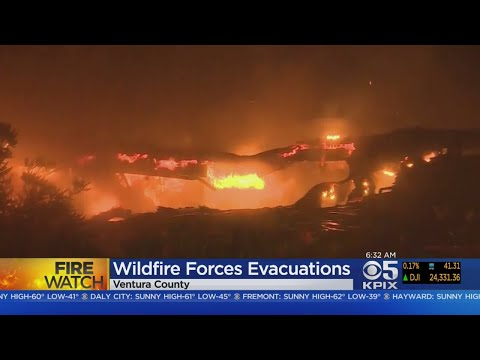 Thousands Forced To Flee Fast Moving Wildfire In Ventura County