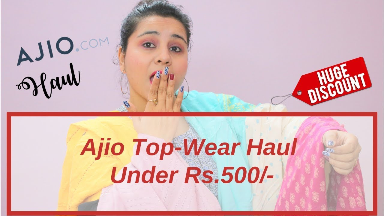 dff3a6bc2a728 Affordable Top-Wear Try On Haul Under 500 l AJIO Haul | College/Office  Lookbook