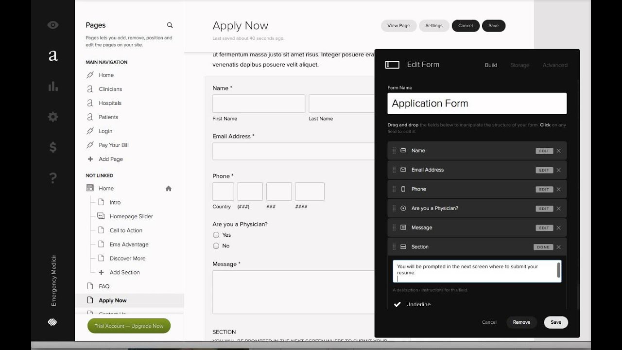 how to get resumes submitted through a squarespace form sort of