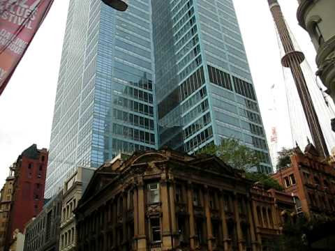 Sydney - downtown filled with skyscraper and Sydney Tower