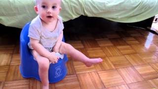 8 month old using a potty, Elimination Communication