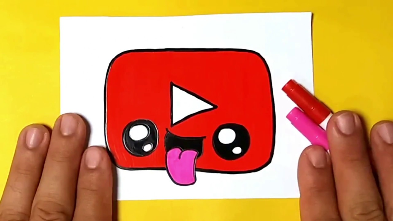 How To Draw Logo Youtube Kids Kawaii Easy And Beautiful Simple Drawing For Children