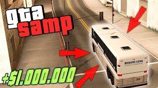 как Заработать 1.000.000 Новичку на Автобуснике на Evolve RP в GTA SAMP