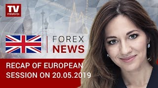 InstaForex tv news: 20.05.2019:  EUR and GBP keep on declining (EUR, USD, GBP, GOLD)