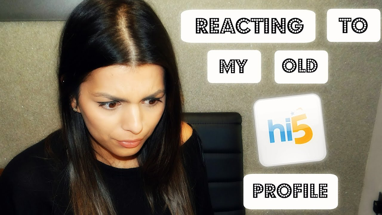 REACTING TO MY OLD Hi5 PROFILE - YouTube
