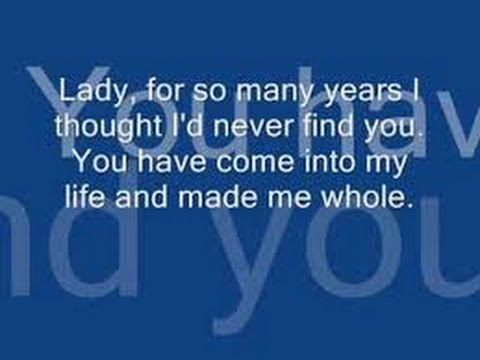 KENNY ROGERS LADY KARAOKE LYRICS ( No Vocals)