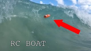 RC 3D printed boat vs Waves
