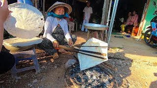 Bánh Tráng nướng mè 5k một cái ngon bá cháy trong chợ Quê Miền Tây