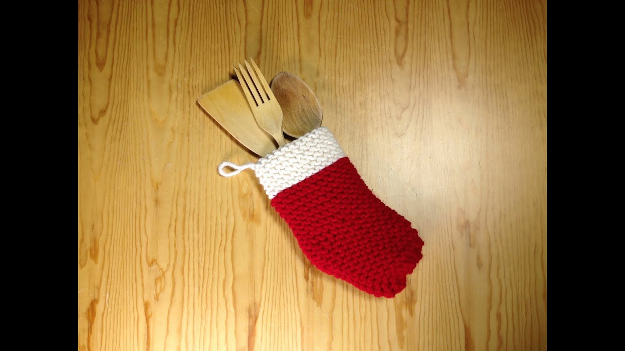 How To Loom Knit A Christmas Sock Diy Tutorial Youtube