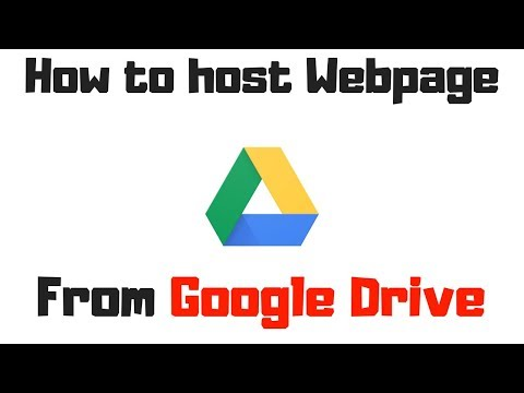 How To Host Website In Google Drive