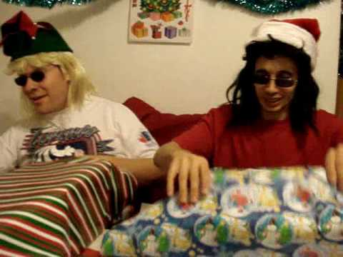 Wrap Christmas gifts 80s glam metal style tutorial Part 1