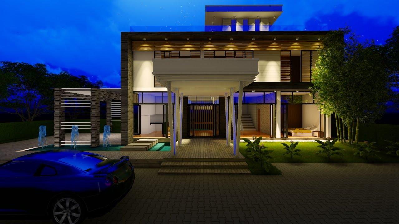 Lumion 6 rendering tutorials 3 modern house 3d warehouse