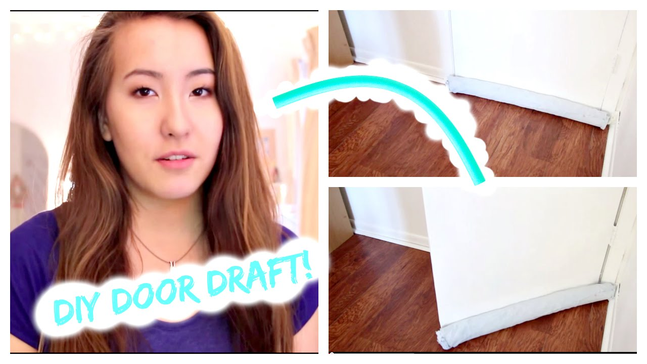 DIY One Sided Door Draft Stopper! - YouTube