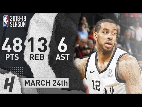 LaMarcus Aldridge Full Highlights Spurs vs Celtics 2019.03.24 - 48 Pts, 13 Reb, 6 Ast!