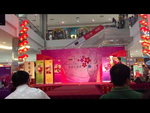 Sinyee in Eu Yan Sang 2013 CNY Hamper Show at The Sutera Mall Johor