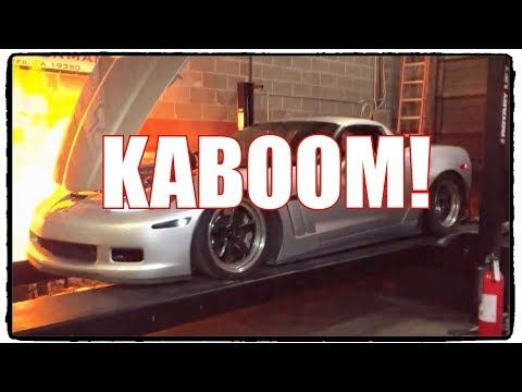 Corvette explodes on dyno, becomes coolest flamethrower ever