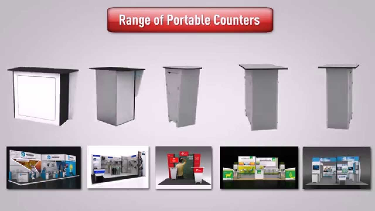 Modular Exhibition Stands Group : Best and high quality portable counter for exhibition