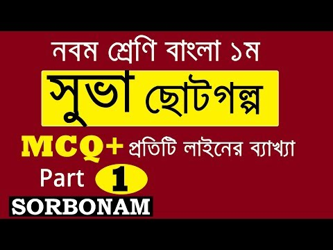 Suva সুভা | SSC Bangla 1st | Suva সুভা | MCQ Suggestion and Question