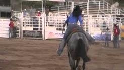 Competencia de Carrera de Barriles. Rodeo de Campeones de Zootecnia , Chihuahua. www.caballo.tv