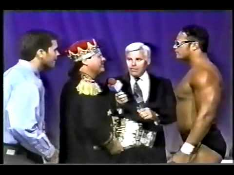 8/24/1996 - USWA - The Rock (as Flex Kavana) promo with Jerry Lawler