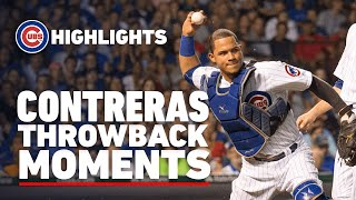 Willson Contreras Throwback Moments | First-Pitch Home Run, All-Star Game, Memorable Pickoffs