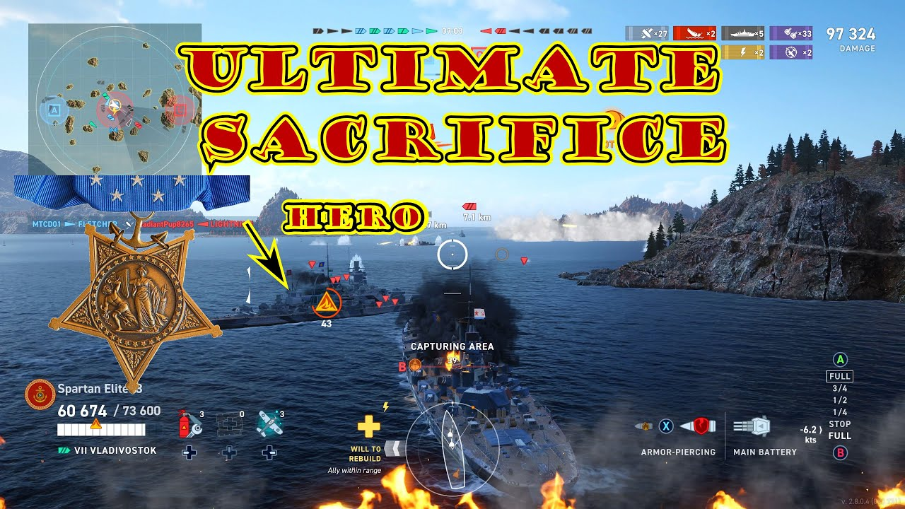 DaSovietSlav Ultimate Sacrifice! 1st Medal of Honor (Live Comms) (WoWsLegends Xbox One X) 4k