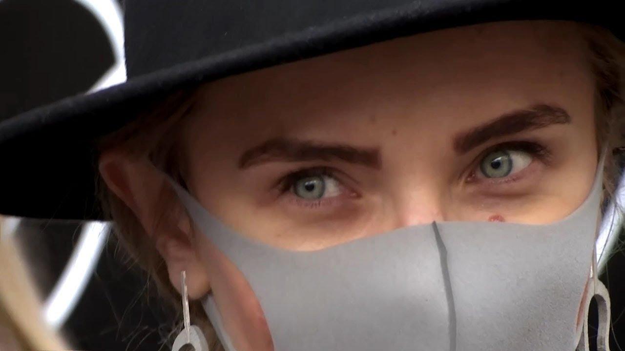 Coronavirus makes face masks the next accessory at London Fashion Week.