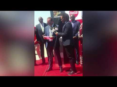 Arrivée Trophée de la Coupe du monde à Dakar Aéroport International Blaise Diagne