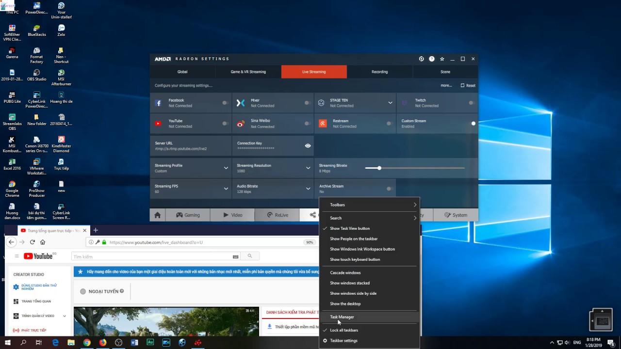 Phần mềm AMD Relive nhẹ máy Livestream game video không tuột FPS