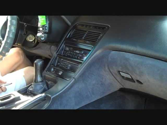 How to Nissan 300ZX Bose Car radio Stereo Removal 1990 - 1996 replace  install cd tape - YouTubeYouTube