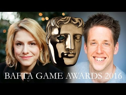 Jay Britton & Alix Wilton Regan with The Sound Architect at the BAFTA Games Awards 2016