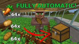 Automatic Food Farm Tutorial [EASY] Minecraft BEDROCK MCPE PS4 PC Xbox Java 1.14 - 1.15