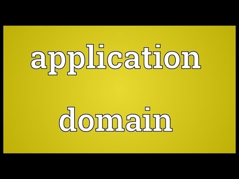 Application domain Meaning