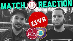 Live Match Reaction | 1. FC Nürnberg : FC Erzgebirge Aue | 27. Spieltag | 2019/20