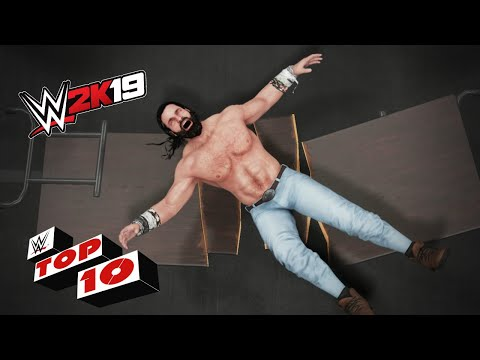 Savage Finishing Moves Through Tables: WWE 2K19 Top 10