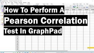 How To Perform A Pearson Correlation Test In GraphPad
