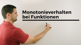 Monotonie, Monotonieverhalten bei Funktionen, Hilfe in Mathe, einfach erklärt, Nachhilfe online
