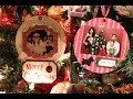 How to make Christmas Photo Ornaments and Snow Globes on recycled CDs