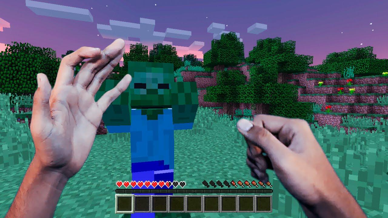 Minecraft Realista #01 – DENTRO DO MINECRAFT !! (REALISTIC MINECRAFT)