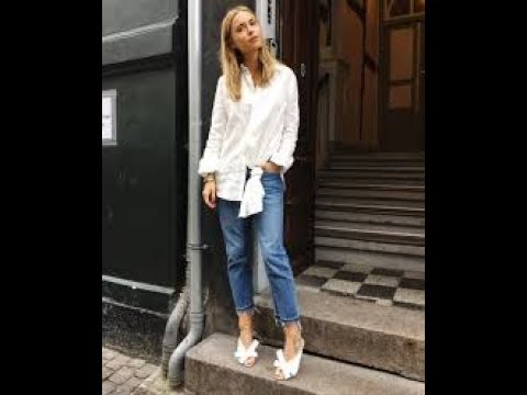 7a78d202 How to Make Button-Down Shirts Look Feminine 2019 - YouTube
