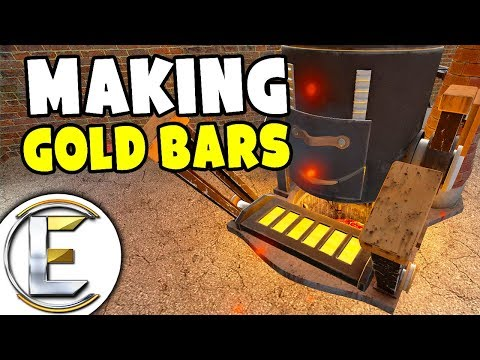 Making Gold Bars By Mining And Smelting - Gmod DarkRP Life (Refining Ores, Gold Big Money?)