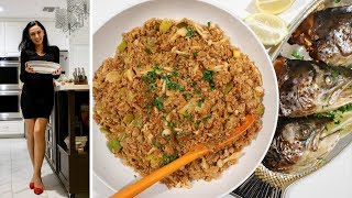 Запечённая Голова Рыбы - Полба с Луком Порей - Армянская Кухня - Рецепт от Эгине - Heghineh